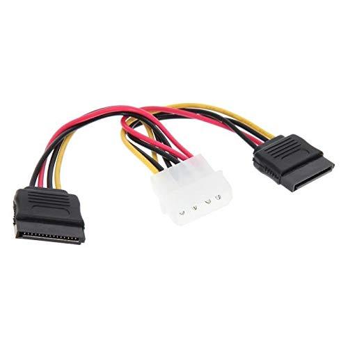 Premium Cord - Cable Adaptador de Red (4 Pines, Conector Macho de 5,25 Pines a 2 Conectores Macho S-ATA)