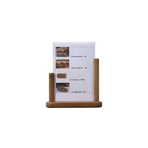 Genware Nev-pft-te-la PVC Table Tableau avec insert en teck, grande, 21 cm x 30 cm,