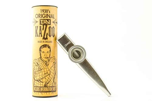 Mkcsd Kazoo in Röhrchen, versilbertes Metall, lauter und heller Klang