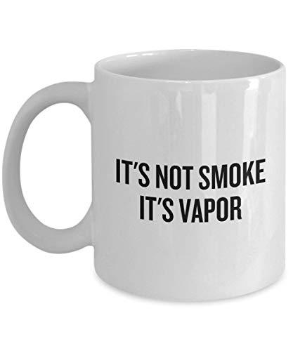 Lplpol Weiße Tasse mit lustigem Vaping-Geschenk – Vaping-Kaffeetasse – E – Zigaretten-Fans Geschenk – It's Not Smoke It's Vapor Einzigartiges Festival Geburtstagsgeschenk 313 ml