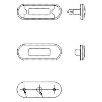 Anbau HELLA 2TM 964 295-101  Schlussleuchte 5000 mm Kabel 12 V LED