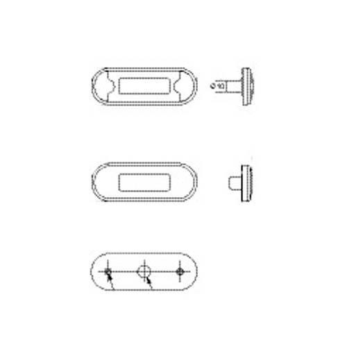 HELLA 2PF 959 855-251 DuraLED Positionsleuchte vorne, 0,5 m Kabel, weiße Endkappen
