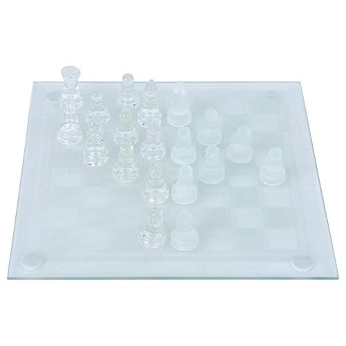 DAUERHAFT Juguete de ajedrez de Cristal Estable, Ligero, para el hogar