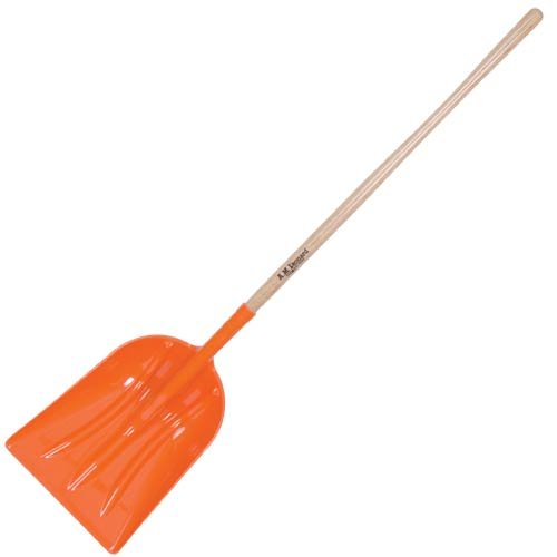 Leonard ABS Scoop Shovel, Straight Handle, 63 Inches Long