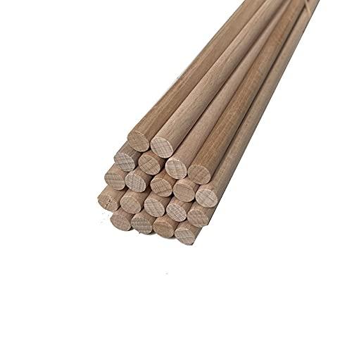 Barra redonda de madera, longitud 1000 mm, haya Ø 10 mm (20 unidades)