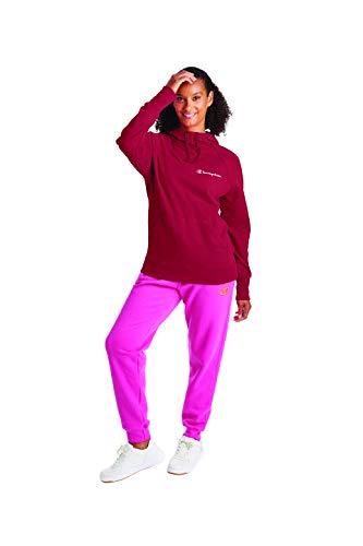 Champion - Sudadera con capucha para mujer, color rojo