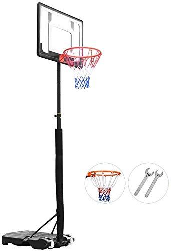 Canasta de baloncesto Niños / Jóvenes Sistema de aro de baloncesto portátil soporte w / Wheels, Objetivos de baloncesto de los deportes con altura regulable, Altura 5.4 a 6.9 pies estante tablero tras