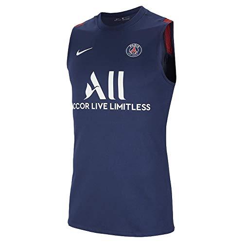 2020-2021 PSG ärmelloses Trainingsshirt (Marineblau)
