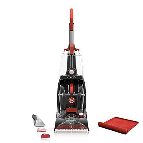 Hoover Power Scrub Elite Pet Upright Carpet Cleaner Shampooer, Lightweight Machine, with Storage Mat, FH50250B, Black
