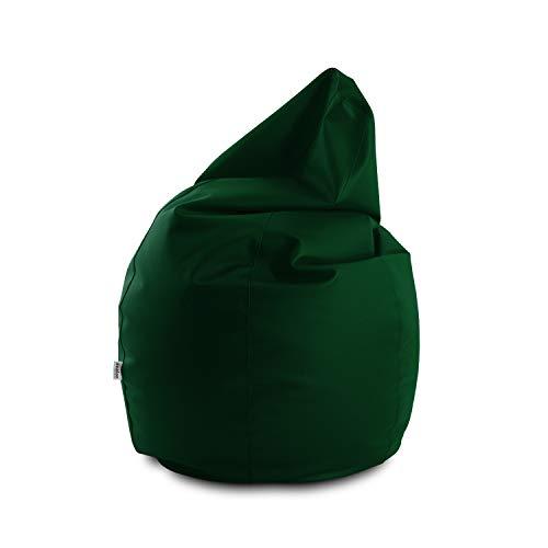 Avalon Pouf Poltrona Sacco Grande Bag L Mamba 95x95x125cm Made in Italy in Tessuto Ecopelle Imbottito Colore Verde Bandiera