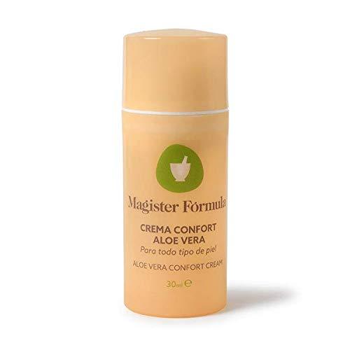 Crema Hidratante Confort Aloe Vera 30ml | 100% Puro | Todo tipo de piel | Crema Natural Regeneradora | Calmante y Antimanchas | Mujer y Hombre | Día y Noche | Magister Formula