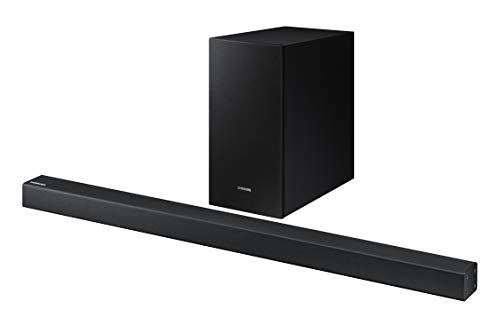 Samsung 2.1 Soundbar HW-R450 with Wireless Subwoofer, Bluetooth Compatible, Smart Sound Mode, Game Mode, 200-Watts