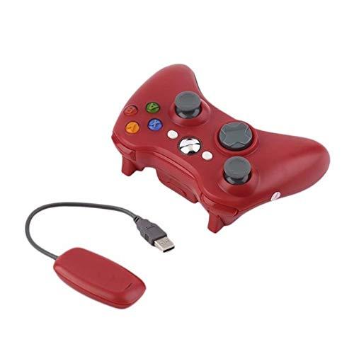 YYCH Juegos de PC 2.4G Gamepad for Xbox 360 Receptor Controlador de la Consola Controlador de Juegos móvil (Color : 2.4g Red)