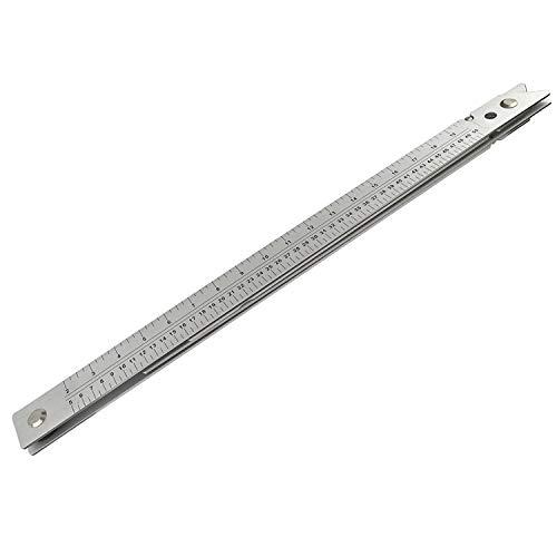 Doblando La Plaza 61cm Regla De Aluminio ángulo Suelo Albañiles suelo con estuche TE658
