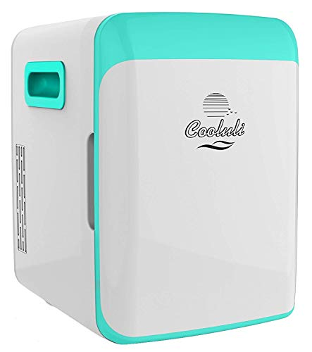 Cooluli Electric Cooler and Warmer (10 Liter / 12 Can): AC/DC Portable Thermoelectric System (Turquoise)