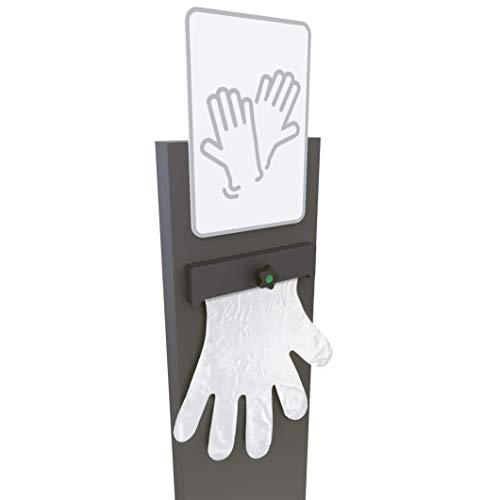 KLEMP Spender für Einmalhandschuhe, mobiler Handschuhspender für Einweghandschuhe, stehend 120cm (Einseitig)