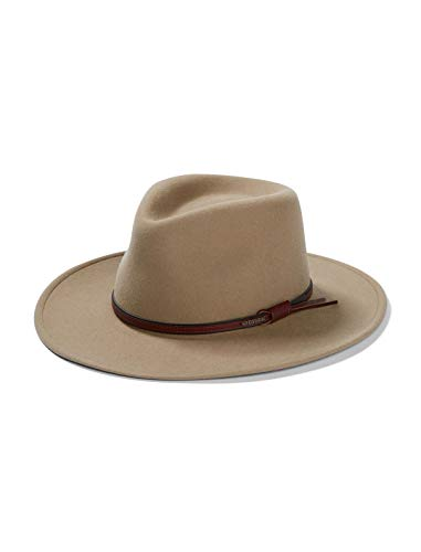 Stetson Bozeman Crushable Outdoor Wool Felt Hat, Mushroom (Large (7 1/4-7 3/8))
