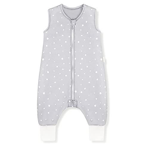 Sleeping Rebels® Baby Schlafsack mit Füßen Sommer - Sommerschlafsack mit Beinen Bio-Baumwolle - Babyschlafsack - Schlafsack Kinder - 1.0 TOG - Oeko-TEX - Premium Qualität (Blue Grey, 90 cm)