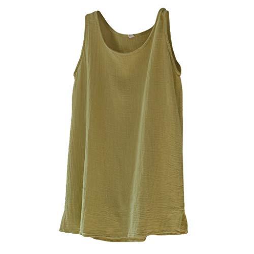 TEBAISE Damen Sommer Neue äRmellos Weste Baumwolle Leinen Tunika T-Shirt Oberseiten Frauen Casual Beiläufige lose Crop Tops Bluse Geschenk zum Muttertags Dünnschnitt Tank Geschenk für Mama