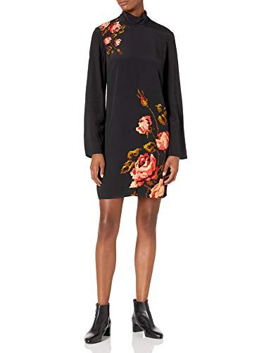 Desigual Vest_Memory Vestido Casual, Negro, XS para Mujer