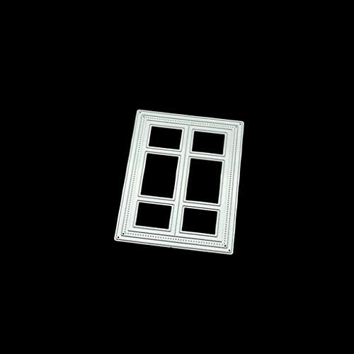 WuLi77 Fenster DIY Metall Metall Stanzschablone Die Stanzen Zum Basteln Von Karten, Prägeschablone Für Scrapbooking, DIY Album, Papier, Karten, Kunst, Dekoration