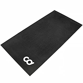 Bike Bicycle Trainer Floor Mat Suits Ergo Mag Fluid for Indoor Cycles.Stepper for Peloton Indoor Bikes - Floor Thick Mats For Exercise Equipment - Gym Flooring  30-inch x 60-inch   76.2 cm x 152.4 cm