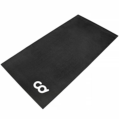 Bike Bicycle Trainer Floor Mat - 30' x 72' (Soft) - Suits Ergo Mag Fluid for Indoor Cycles.Stepper for Peloton Indoor Bikes - Floor Thick Mats for Exercise Equipment - Gym Flooring