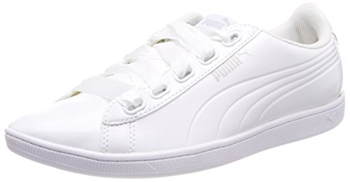 Puma Women Vikky Ribbon P Low Top Sneakers, White (Puma White Puma White 02), 6.5 UK (40 EU)