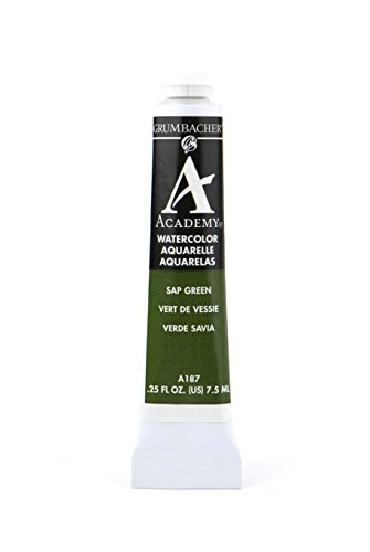 Grumbacher Academy Watercolor Paint, 7.5ml/0.25 Ounce, Sap Green (A187)