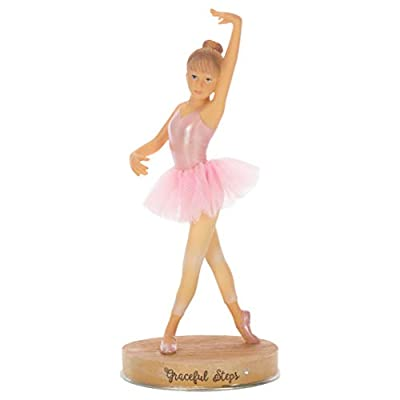 Ballerina Graceful Steps Pretty Pink 6 inch Resin Stone Collectible Figurine