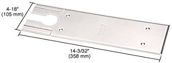 Dorma Brushed Stainless BTS80 Series Cover Plate