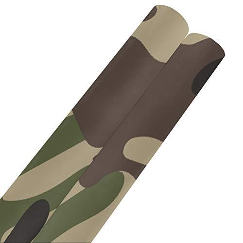 Camuflaje protector militar estilo fresco papel de regalo de feliz cumpleaños 58 x 23 pulgadas 2 rollos de papel de seda para envolver papel de regalo navideño para el día de la madre, bodas, cumplea