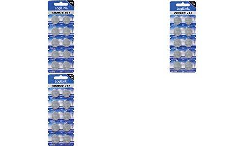 LogiLink Lithium Knopfzelle ´Ultra Power´, CR2016, 10er, Sie erhalten 1 Packung, Packungsinhalt: 10 er Set