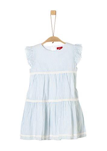 s.Oliver Junior Mädchen 403.10.005.20.200.2038525 Kinderkleid, Light Blue Stripes, 116 REG