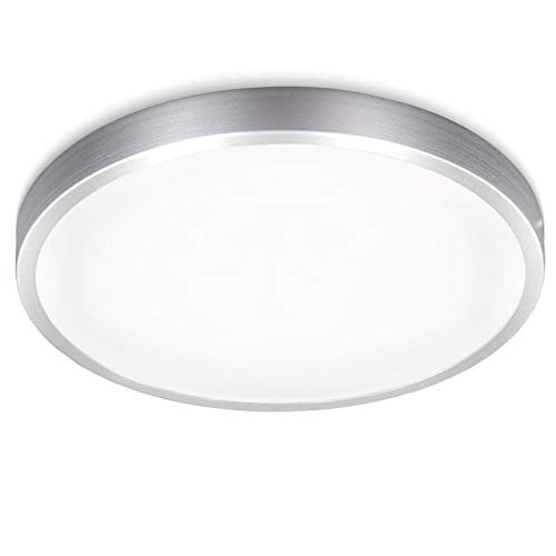 B.K.Licht LED Deckenleuchte I Deckenlampe I Titan Optik I inkl. 15W LED Platine I 1500lm I 4000K neutral weiss I IP20 I Ø29cm
