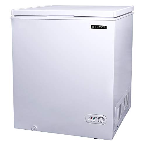 RCA Thomson TFRF520 Chest Deep Freezer, 5.0 Cu. Ft. Capacity, White, 5