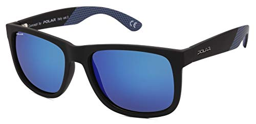 Polar - PL 323 S, Geométrico, acetato, hombre, BLACK/GREY BLUE VIOLET MIRROR POLARIZED PREMIUM(80/C)