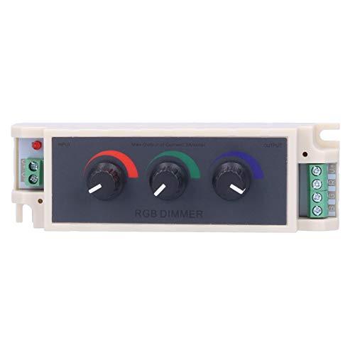 Atenuador de perilla RGB, controlador RGB PWM actual Ajuste de brillo digital Perilla de control fácil de usar Atenuador para luces de cinta para luces LED