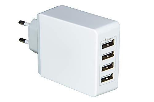 Link Cargador de batería de 4 Puertos USB A de Toma de Pared 7,2 amperios