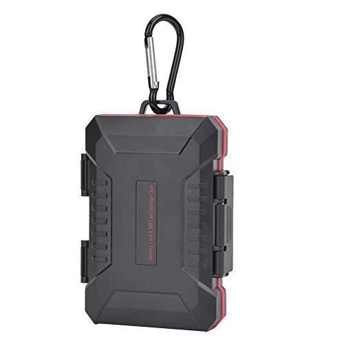 Kaartopbergdoos, LP-E8 ABS + rubbermateriaal Camera Geheugen Telefoon SIM-kaart, valbestendig Waterdicht, uitgerust met klimgesp