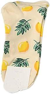 Calcetín de algodón para Mujer Calcetines de algodón para Mujer Calcetines de Frutas Calcetines Divertidos de Animales Ricos Coloridos Super Suaves