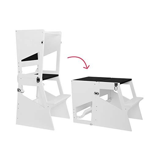 Bianconiglio Kids ® Moka TRS Learning Tower Bianca trasformabile in tavolino