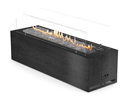 Planika Gas Line Outdoor GaLiO Black Automatic [automatische gashaard voor buitenshuis]: zonder afstandsbediening - gasfles (propaan, butaan) - met WLAN-module
