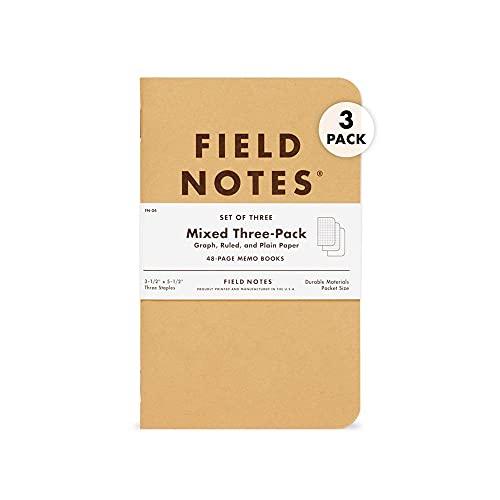 Field Notes - Bloc de notas (48 hojas, 3 unidades), modelos surtidos