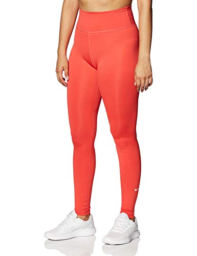 Nike W One TGHT Pantalon de Sport Femme, Track Red/(White), FR : M (Taille Fabricant : M)