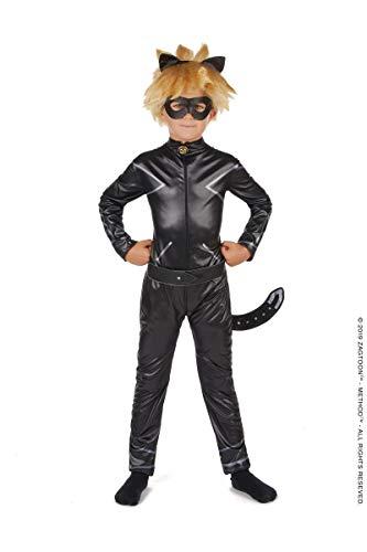Vegaoo - Disfraz Miraculous Cat Noir niño - S 5-6 años (105-116 cm)