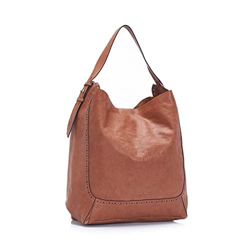 Abbacino bolso hobo de mujer de piel en cognac