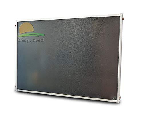 Pannello solare termico piano, alta efficienza, circolazione forzata, piastra captante alluminio rame, tubazioni interna ad arpa (2 m² H = 1010 x 1980 x 86 mm)