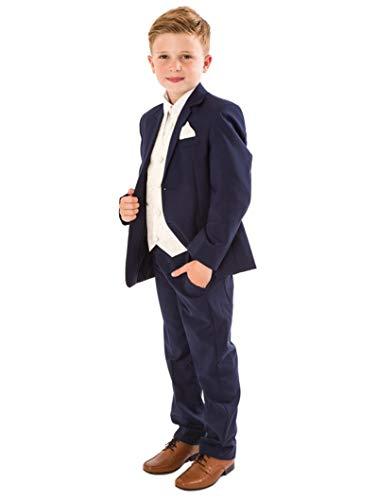 V.C. Festlicher Kinderanzug Jungen Hochzeit Anzug Taufanzug 6tlg. blau 152