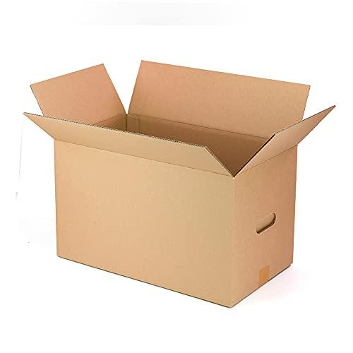 Only Boxes AMA600 Pack 10 Cajas de cartón Mudanzas Almacenaje Transporte, Caja con Asas para fácil manejo, Dimensiones 50x30x30 cm, Caja Cartón Canal Doble Ultrarresistentes, 100% ecológico